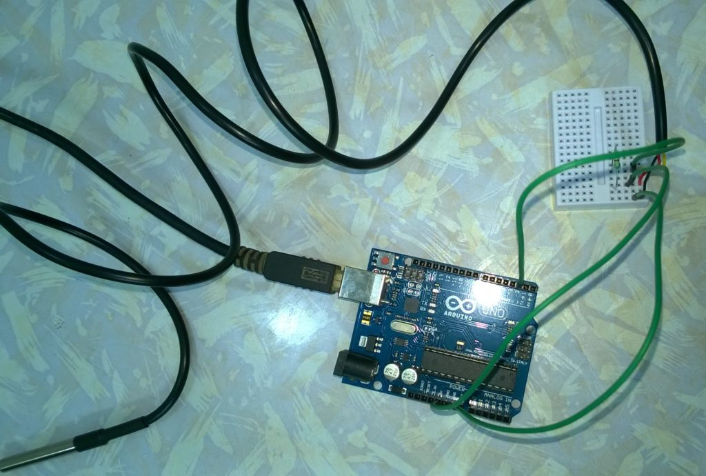 Arduino and a DS18B20 sensor 1