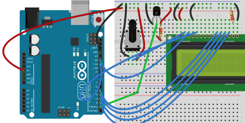 How to connect lcd display arduino uno digital lab