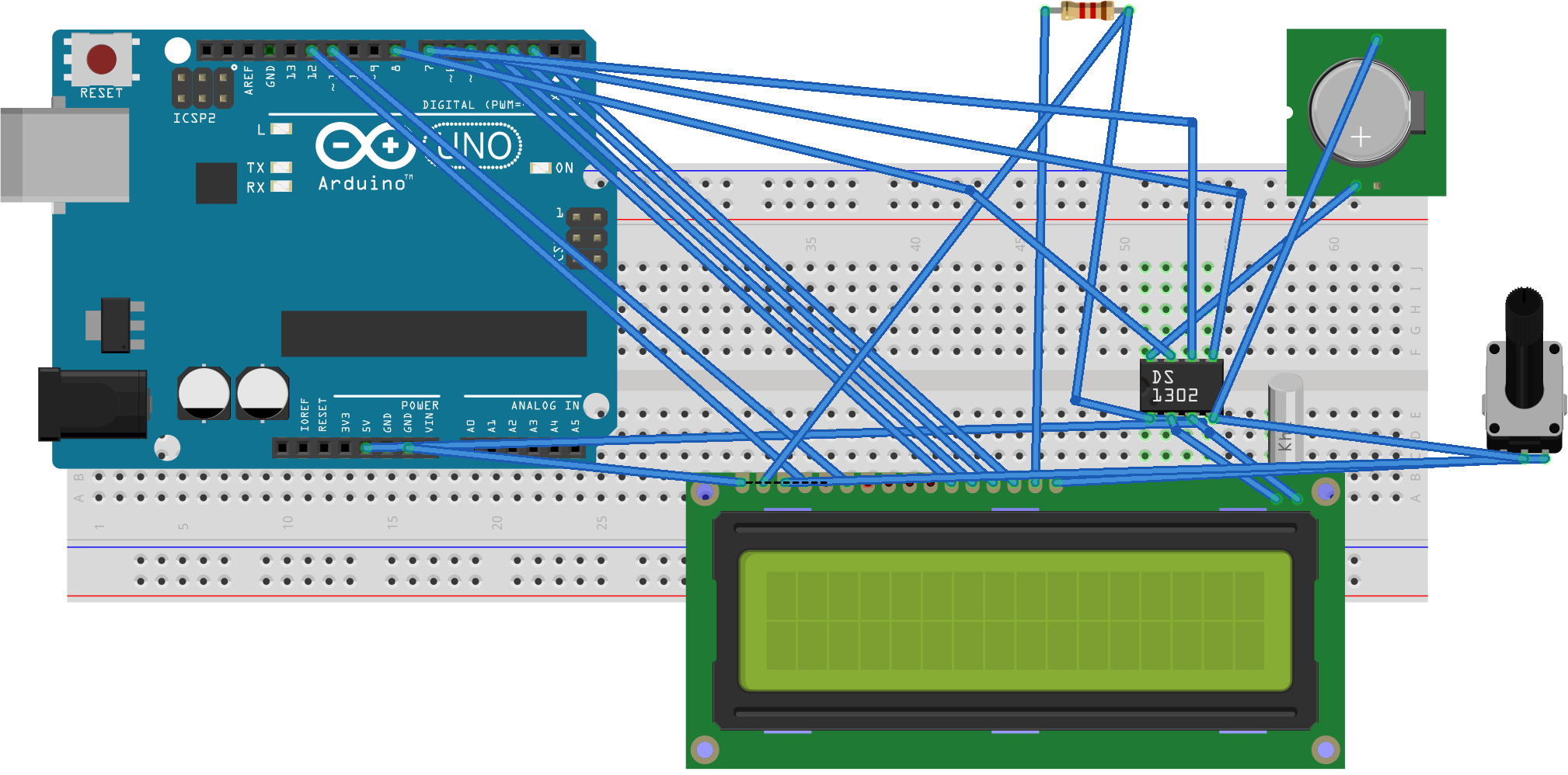 How to make digital clock using Arduino and DS1302 - Digital Lab