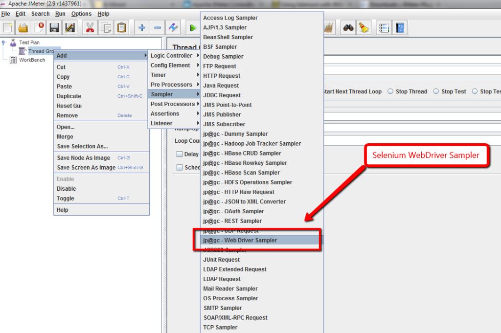 Selenium Webdriver Sampler
